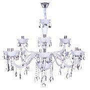 Lustre Cristal 12 Braços Maria Thereza Branco  Lc1403-12.000