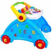 Andador Didático Múltiplas Funções Para Bebê Azul 5917 - Poliplac