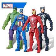 Pack 04 Bonecos Marvel Avengers 10CM - Hulk - Thor - Capitão América e Homem de Ferro E4353 - Hasbro