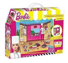 Barbie - Massinha food Truck Comidinhas Japonesas e Sushi 79680 - Fun