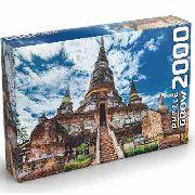 Puzzle 2000 Peças Templo Tailandês Grow Quebra Cabeça