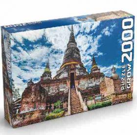Quebra Cabeça 2000 Peças Templo Tailandês - Puzzle Grow