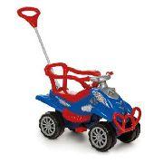 Carrinho De Passeio Com Empurrador Turbo Cross Calesita Azul