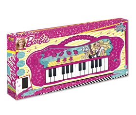 Barbie - Teclado Fabuloso da Barbie Com Entrada para MP3 - Fun