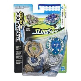 Beyblade Burst Turbo Slingshock Pack Duplo Engaard E4 e Stone-X Quetziko Q4  E4751 - Hasbro E4604
