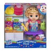 Boneca Baby Alive Bebe Faminta Loira - Comilona Comidinha Feliz E4894 - Hasbro