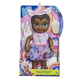 Boneca Baby Alive Unicornio Tynicorn Negra E9166 - Hasbro