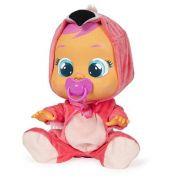 Boneca Crybabies Flamy  com Chupeta e Roupinha de Flamingo BR121 - Multikids