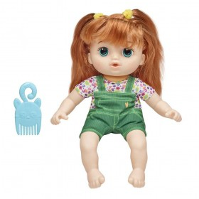 Boneca Littles Baby Alive Turminha Estilosa Ruiva Eva E8413 E8407 - Hasbro