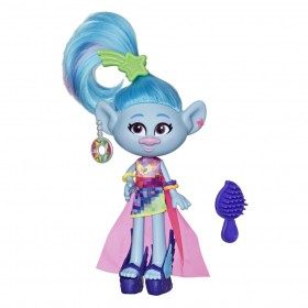 Boneca Trolls na Moda Chenille Glamour E7188 - Hasbro