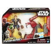 Boneco Anakin Skywalker e Jedi Speeder - Star Wars Hero Mashers B3833 - Hasbro B3831
