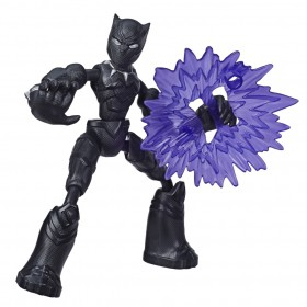 Boneco Bend And Flex Avengers Pantera Negra E7868 E7377 - Hasbro