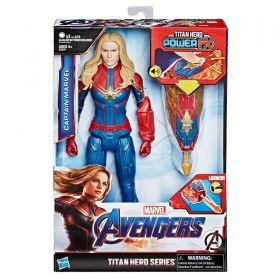 Boneco Capitã Marvel 30 Cm Titan Hero com Dispositivo Power FX E3307 - Hasbro