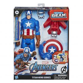 Boneco Capitao America Titan Hero Bast Gear E7374 - Hasbro