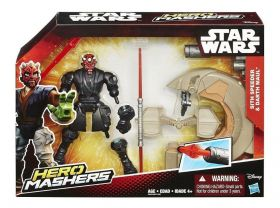 Boneco Darth Maul e Sith Speeder - Star Wars Hero Mashers B3832 - Hasbro B3831