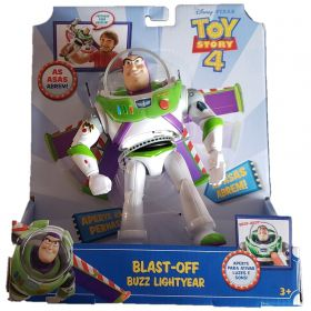 Boneco Eletronico Buzz Lightyear Voo Espacial Com Sons e Luzes - Toy Story 4 GGh39 - Mattel