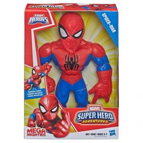 Boneco Homem Aranha Mega Mighties Playskool Heroes Marvel Super Hero Adventures E4147 E4132 - Hasbro