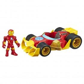 Boneco Homem de Ferro Com Carro Poderoso Super Hero E6257 - Hasbro