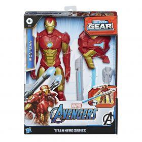Boneco Homem de Ferro Titan Hero Bast Gear E7380 - Hasbro