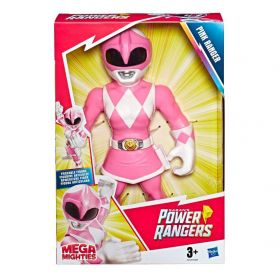 Boneco Power Ranger Rosa Mega Mighties Playskool Heroes E6729 E5869 - Hasbro