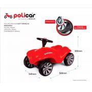 Carrinho de Passeio Andador Infantil Policar Soft Vermelho 7089 - Poliplac