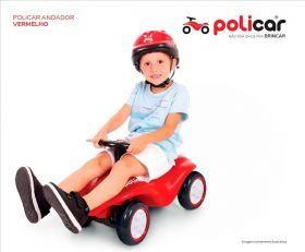 Carrinho de Passeio Andador Infantil Policar Vermelho 7072 - Poliplac