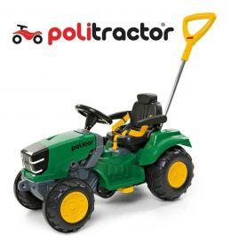 Carrinho de Passeio e Pedal Trator Politractor Policar Verde 7584 - Poliplac