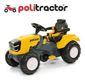 Carrinho de Pedal Trator Politractor Policar Amarelo 7539 - Poliplac