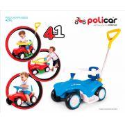 Carrinho Passeio Andador Infantil Policar Azul 7041 - Poliplac
