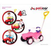 Carrinho Passeio Andador Infantil Policar Rosa 7058 - Poliplac