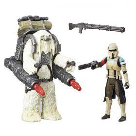 Figuras Star Wars com Acessórios - Rogue One - Scarif Stromtrooper e Moroff - Hasbro