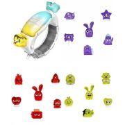 Hanazuki Pulseira do Humor + Tesouros Vermelho Amarelo e Roxo - Hasbro