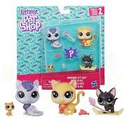 Littlest Pet Shop Familia Gatinhos da Neve E1014 - hasbro B9346