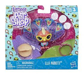 Littlest Pet Shop Passarinho Ella Parrotty E2428 - Hasbro E2161