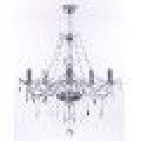 Lustre de Cristal Maria Thereza 5 Lâmpadas Transparente - Arquitetizze