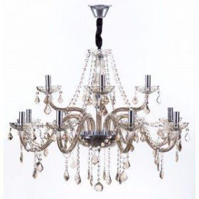 Lustre de Cristal para 12 Lâmpadas Maria Thereza Champagne - Arquitetizze