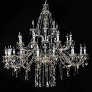 Lustre de Cristal para 28 Lâmpadas Maria Thereza  Fumê - Arquitetizze