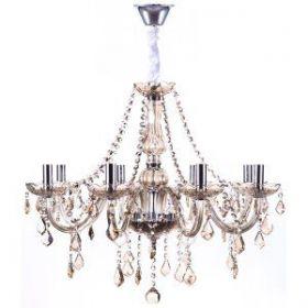 Lustre de Cristal para 8 Lâmpadas Maria Thereza  Champagne - Arquitetizze