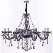 Lustre de Cristal para 8 Lâmpadas Maria Thereza Fumê - Arquitetizze
