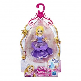 Mini Boneca Princesa Disney Royal Clips Rapunzel E4863 E3049 - Hasbro