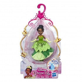 Mini Boneca Princesa Disney Royal Clips Tiana E4862 E3049 - Hasbro