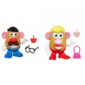 MR Potato Head Pack Sr e Sra Cabeça de Batata 27656 - Hasbro