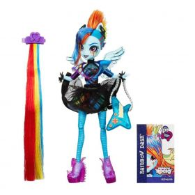 Boneca My Little Pony Rainbow Rocks Rainbow Dash Penteado de Arrasar - Hasbro
