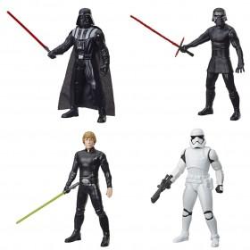 Pack 04 Bonecos Star Wars Olympus 25CM Darth Vader + Kylo Ren + Luke Skwalker + Stormtrooper E8063 - Hasbro