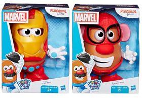 Pack Boneco Mr. Potato Head como Homem Aranha e Homem de Ferro E2417 - Hasbro