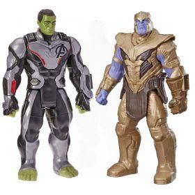 Pack Boneco Thanos  e Boneco Hulk 30cm Vingadores Ultimato E4018 / E3304 - Hasbro