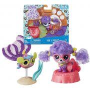 Pack Littlest Pet Shop Bebe La Poodle e Reba Rosyfish E2426 / E2430 - Hasbro E2161
