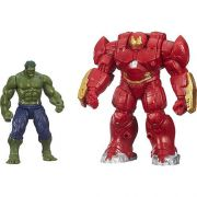 Pack Mini Boneco Hulk e Hulkbuster Avengers B1500 / B0448 - Hasbro