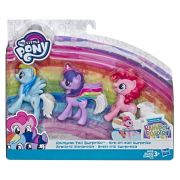 Pack My Little Pony Arco-iris Surpresa com 3 Personagens - Rainbow Dash Pinkie Pie e Twilight Sparkle E7703 - Hasbro