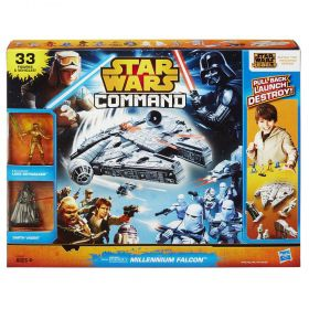 Pack Star Wars Rebels Command Millennium Falcon com Movimento e Exclusivo Boneco Luke Skywalker A8949 - Hasbro